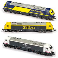 "Locomotora MFTrain - Renfe 333.3 ""Prima"" escala N"