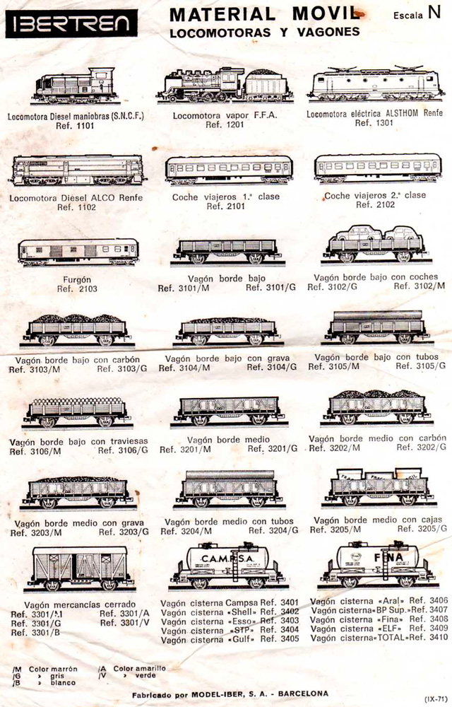 Catálogo Ibertren 1971
