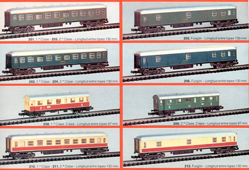 Catálogo Ibertren 1977 coches de viajeros