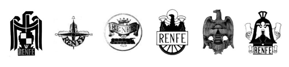 Primeros logos de Renfe 1941-1946
