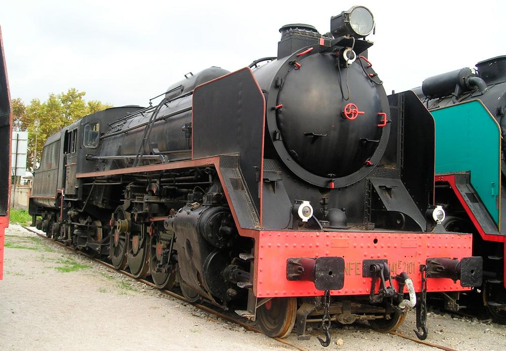 Locomotora Mikado Renfe Museo Vilanova