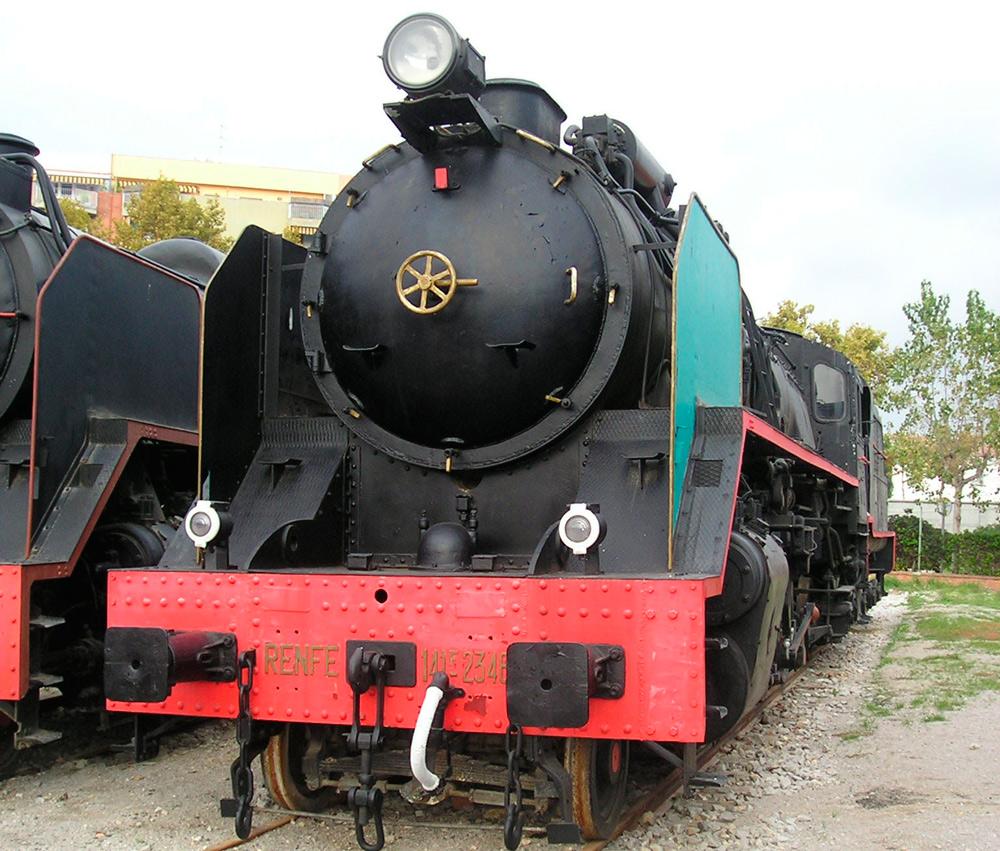 Locomotra Mikado Renfe Museo Vilanova