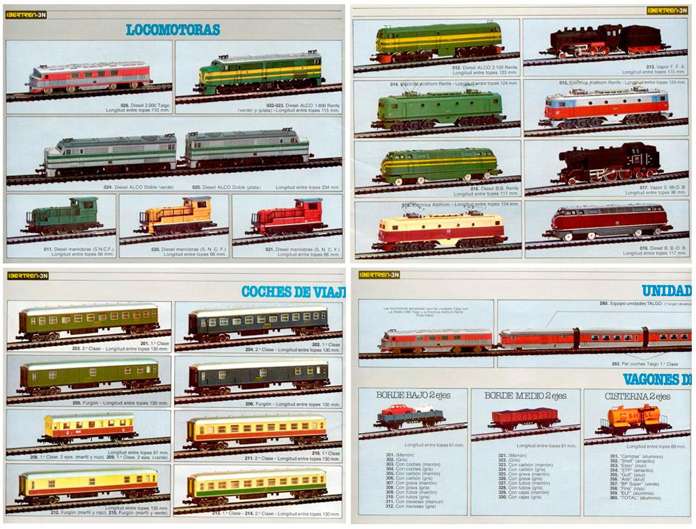 Algunas páginas del catálogo de 1979 donde únicamente se ofertaba 3N