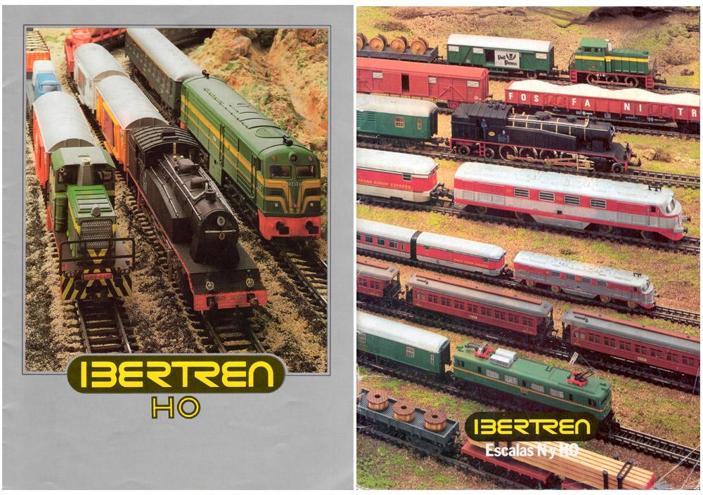Portada del primer catálogo de Ibertren H0 (izquierda) en 1980 y catálogo conjunto H0 y N de 1982 (derecha)