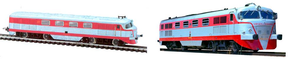 Modelo H0 de Ibertren (izquierda) frente al modelo real (derecha)