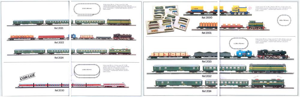 Equipos completos Ibertren H0 en 1982.
